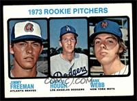 1973 Rookie Pitchers (Jimmy Freeman, Charlie Hough, Hank Webb) [EX]