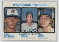 1973 Rookie Pitchers (Jimmy Freeman, Charlie Hough, Hank Webb)