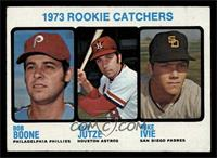 1973 Rookie Catchers (Bob Boone, Skip Jutze, Mike Ivie) [EX]