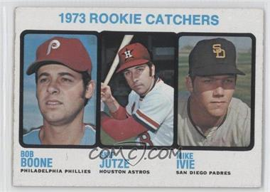 1973 Topps #613 - 1973 Rookie Catchers (Bob Boone, Skip Jutze, Mike Ivie)