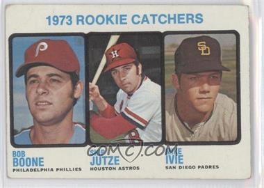1973 Topps #613 - 1973 Rookie Catchers (Bob Boone, Skip Jutze, Mike Ivie) [GoodtoVG‑EX]