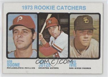 1973 Topps #613 - 1973 Rookie Catchers (Bob Boone, Skip Jutze, Mike Ivie)