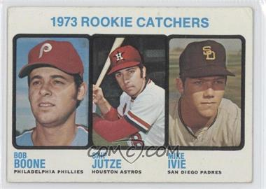 1973 Topps #613 - 1973 Rookie Catchers (Bob Boone, Skip Jutze, Mike Ivie) [Good to VG‑EX]