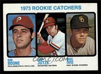 1973 Rookie Catchers (Bob Boone, Skip Jutze, Mike Ivie) [EX]