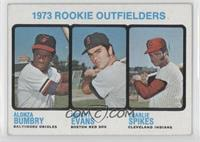 1973 Rookie Outfielders (Alonza Bumbry, Dwight Evans, Charlie Spikes) [Good&nbs…