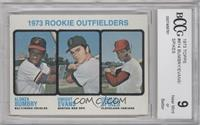 1973 Rookie Outfielders (Alonza Bumbry, Dwight Evans, Charlie Spikes) [ENCASED]