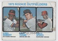 1973 Rookie Outfielders (Alonza Bumbry, Dwight Evans, Charlie Spikes) [Poor]