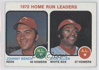 1972 Home Run Leaders (Johnny Bench, Dick Allen)
