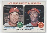 1972 Runs Batted In Leaders (Johnny Bench, Dick Allen) [GoodtoVG&#8…