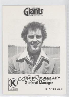 1974 Cramer Circle K Phoenix Giants #25 - Ethan Blackaby