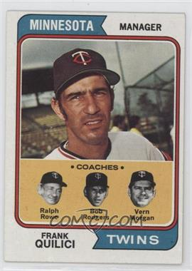 1974 Topps - [Base] #447 - Twins Coaches (Frank Quilici, Ralph Rowe, Vern Morgan, Buck Rodgers)