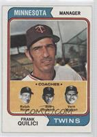 Twins Coaches (Frank Quilici, Ralph Rowe, Vern Morgan, Buck Rodgers)