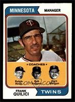 Twins Coaches (Frank Quilici, Ralph Rowe, Vern Morgan, Buck Rodgers) [NM]