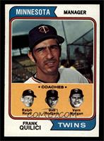 Twins Coaches (Frank Quilici, Ralph Rowe, Vern Morgan, Buck Rodgers) [NM M…