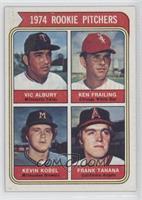 1974 Rookie Pitchers (Vic Albury, Ken Frailing, Kevin Kobel, Frank Tanana)
