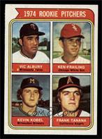 1974 Rookie Pitchers (Vic Albury, Ken Frailing, Kevin Kobel, Frank Tanana) [NM]