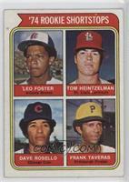 '74 Rookie Shortstops (Leo Foster, Tom Heintzelman, Dave Rosello, Frank Taveras)