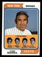 Mets Coaches (Yogi Berra, Rube Walker, Eddie Yost, Roy McMillan, Joe Pignatano)…