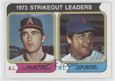 1974 Topps #207 - 1973 Strikeout Leaders (Nolan Ryan, Tom Seaver)