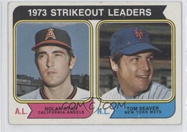 1974 Topps #207 - 1973 Strikeout Leaders (Nolan Ryan, Tom Seaver)