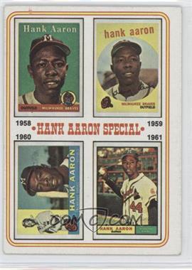 1974 Topps #3 - Hank Aaron Special (1958,1959,1960,1961)
