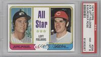 All Star Left Fielders (Bobby Murcer, Pete Rose) [PSA 8]