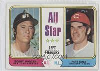 All Star Left Fielders (Bobby Murcer, Pete Rose)