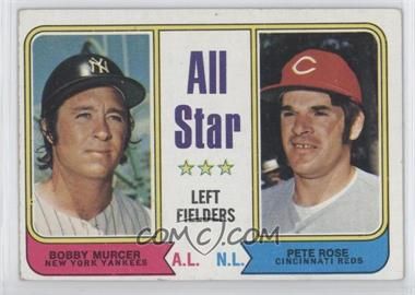 1974 Topps #336 - All Star Left Fielders (Bobby Murcer, Pete Rose)
