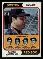 Red Sox Coaches (Darrell Johnson, Eddie Popowski, Lee Stange, Don Zimmer, Don B…