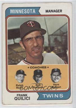 1974 Topps #447 - Frank Quilici