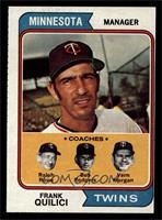 Twins Coaches (Frank Quilici, Ralph Rowe, Vern Morgan, Buck Rodgers) [VG E…