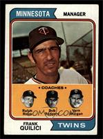 Twins Coaches (Frank Quilici, Ralph Rowe, Vern Morgan, Buck Rodgers) [VG]