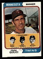 Twins Coaches (Frank Quilici, Ralph Rowe, Vern Morgan, Buck Rodgers) [GOOD]
