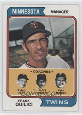 1974 Topps #447 - Twins Coaches (Frank Quilici, Ralph Rowe, Vern Morgan, Buck Rodgers) [Good to VG‑EX]