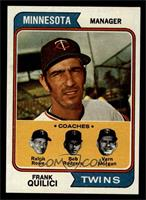 Twins Coaches (Frank Quilici, Ralph Rowe, Vern Morgan, Buck Rodgers) [EX M…