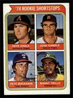 '74 Rookie Shortstops (Dave Chalk, John Gamble, Pete Mackanin, Manny Trillo) [E…
