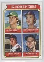 1974 Rookie Pitchers (Glenn Abbott, Rick Henninger, Craig Swan, Dan Vossler)