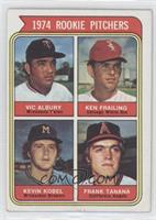 1974 Rookie Pitchers (Vic Albury, Ken Frailing, Kevin Kobel, Frank Tanana) [Goo…
