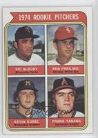 1974 Rookie Pitchers (Vic Albury, Ken Frailing, Kevin Kobel, Frank Tanana)