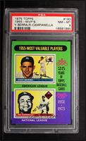 1955 Most Valuable Players (Yogi Berra, Roy Campanella) [PSA 8]