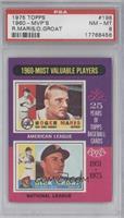 1960-Most Valuable Players (Roger Maris, Dick Groat) [PSA8]