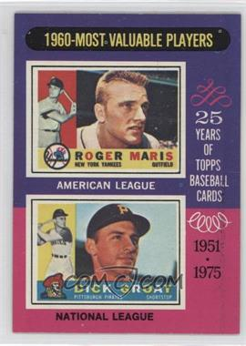 1975 Topps - [Base] #198 - 1960-Most Valuable Players (Roger Maris, Dick Groat)