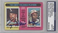 1961-Most Valuable Players (Roger Maris, Frank Robinson) [PSA/DNA Certifie…