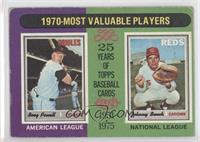 1970-Most Valuable Players (Boog Powell, Johnny Bench) [Good to VG&#8…
