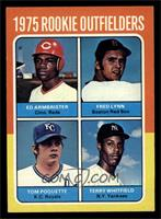 Ed Armbrister, Fred Lynn, Terry Whitfield, Tom Poquette [EX MT]