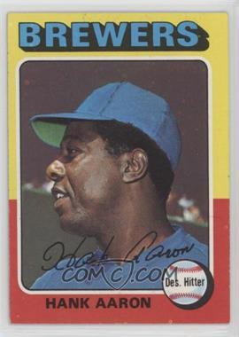 1975 Topps - [Base] #660 - Hank Aaron