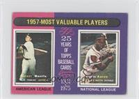 1957- Most Valuable Players (Mickey Mantle, Hank Aaron) [Good to VG&#…