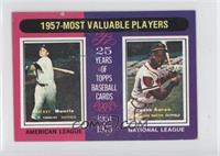 1957- Most Valuable Players (Mickey Mantle, Hank Aaron)