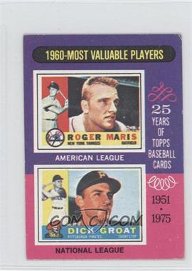 1975 Topps Minis #198 - Roger Maris, Dick Green