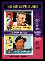 Roger Maris, Dick Groat [NM MT]
